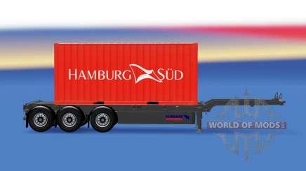 Semi-trailer mit 20-Pfund-container v2.0 für American Truck Simulator