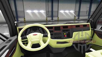 La crème de l'intérieur Peterbilt 579 pour American Truck Simulator