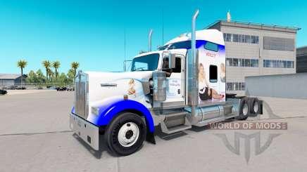 Haut Holly Willoughby, auf der die LKW-Kenworth W900 für American Truck Simulator
