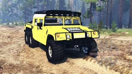 Hummer H1 6x6 Raptor v2.0 pour Spin Tires