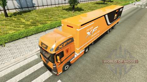 Die Haut auf der Zugmaschine DAF XF 105.510 für Euro Truck Simulator 2