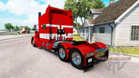Скин Weißen Streifen auf dem Roten Lack на Peter für American Truck Simulator