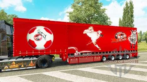Krone rideau semi-remorque 1. FC Cologne pour Euro Truck Simulator 2
