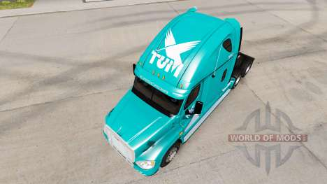La peau TUM sur tracteur Freightliner Cascadia pour American Truck Simulator