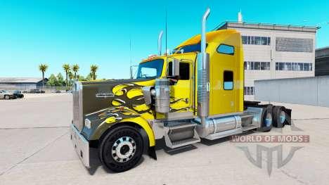 Skin Carbon Custom auf der LKW-Kenworth W900 für American Truck Simulator