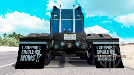 Kotflügel I Support Single Moms v1.6 für American Truck Simulator