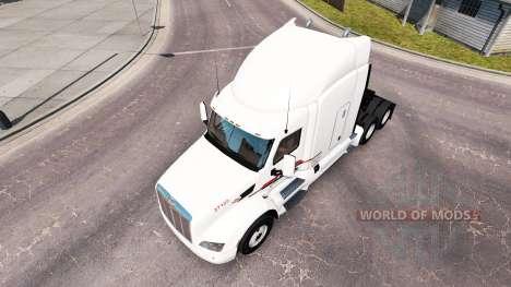 La peau P. A. M. sur le tracteur Peterbilt pour American Truck Simulator