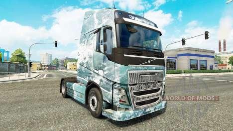 Ice Road skin für Volvo-LKW für Euro Truck Simulator 2