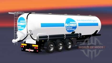 Réservoir semi-remorque Schmidt Heilbronn pour Euro Truck Simulator 2
