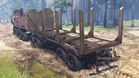 KamAZ-5322 8x8 für Spin Tires