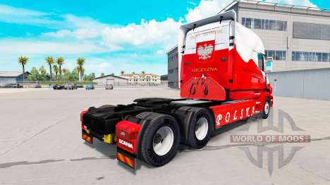 La peau Airbrash Polska pour camion Scania T pour American Truck Simulator