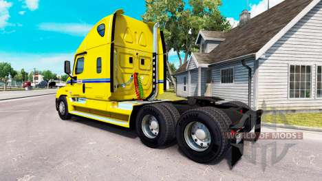 La peau sur Penske camion Freightliner Cascadia pour American Truck Simulator