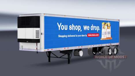 Haut Tesco auf dem Auflieger-Kühlschrank für American Truck Simulator
