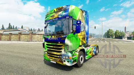 La peau Brasil 2014 pour Scania camion pour Euro Truck Simulator 2