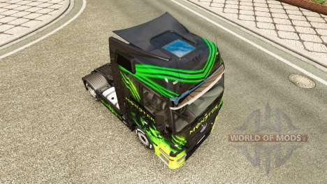 La peau Monstre sur camion Mercedes-Benz pour Euro Truck Simulator 2