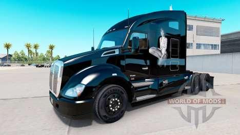Haut Taylor auf Traktor Kenworth für American Truck Simulator