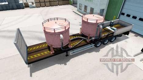 Semi-remorque plateau Kogel avec des charges dif pour American Truck Simulator