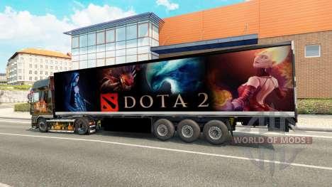 La peau de Dota 2 sur la remorque pour Euro Truck Simulator 2