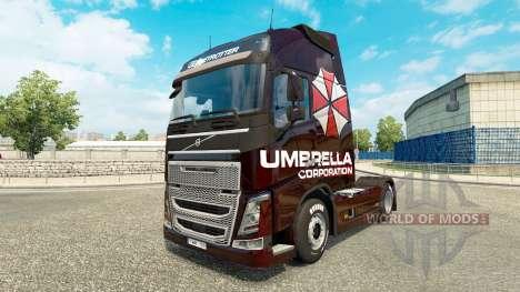 Umbrella Corporation de la peau pour Volvo camio pour Euro Truck Simulator 2