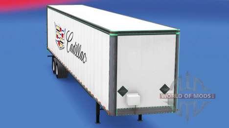 La peau de Cadillac en métal remorque pour American Truck Simulator