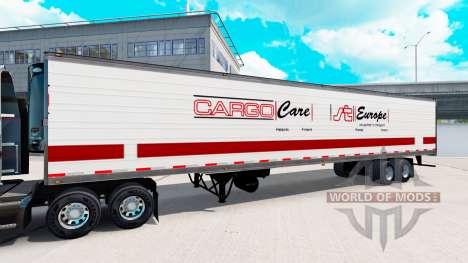 Semi-Trailer mit real logos v1.0.1 für American Truck Simulator