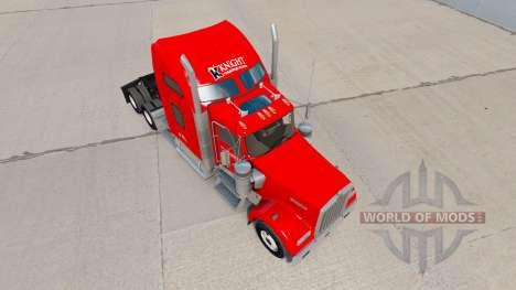 Скин Knight Transportation на Kenworth W900 für American Truck Simulator