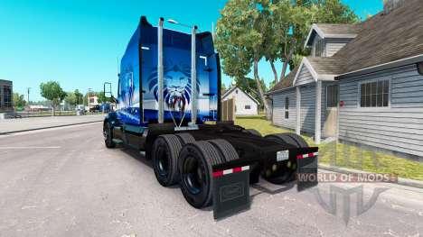 Peau Bleu Lion de Transport sur les camions Pete pour American Truck Simulator
