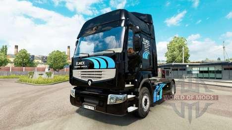 ELMEX de la peau pour Renault camion pour Euro Truck Simulator 2