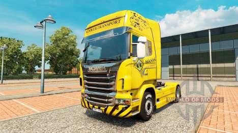 Schwertransport Hanys de la peau pour Scania cam pour Euro Truck Simulator 2