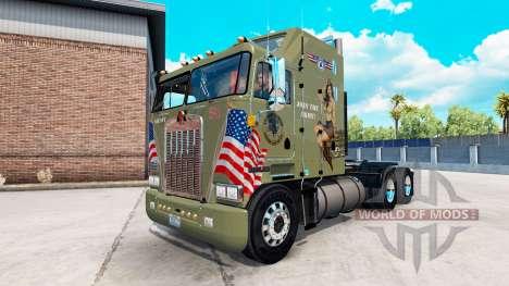 Haut Militärische Mädchen auf einem Traktor Kenw für American Truck Simulator