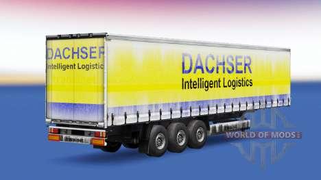 Dachser peau v1.1 sur la remorque pour Euro Truck Simulator 2