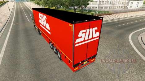 Rideau semi-remorque de la DDC v2.0 pour Euro Truck Simulator 2