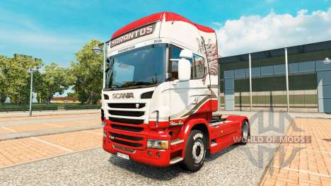 Sarantos de la peau pour Scania camion pour Euro Truck Simulator 2