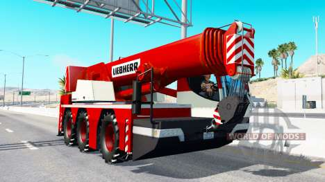 Mobilkran Liebherr in traffic v2.0 für American Truck Simulator