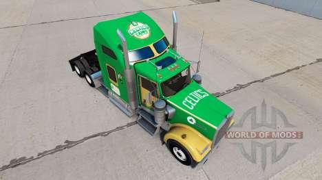 Boston Celtics Haut für den Kenworth W900 Zugmas für American Truck Simulator