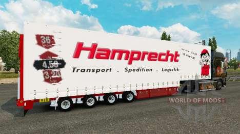 Krone Vorhang semi-trailer Hamprecht für Euro Truck Simulator 2