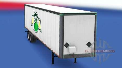 La peau Perrier sur le métal de la remorque pour American Truck Simulator
