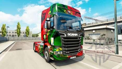 Скин Portugal Copa 2014 на Scania Streamline pour Euro Truck Simulator 2