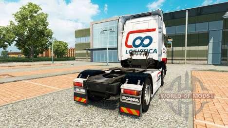 Coopercarga Logistica skin für Scania-LKW für Euro Truck Simulator 2