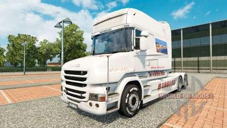 BARBERO skin für Scania T truck für Euro Truck Simulator 2