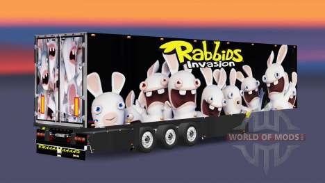 Semitrailer refrigerator Schmitz Rabbids für Euro Truck Simulator 2
