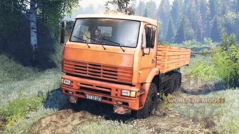 KamAZ-6522-v8.0 für Spin Tires