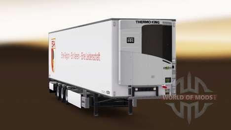 Semi-remorque Chereau, FC Augsburg pour Euro Truck Simulator 2