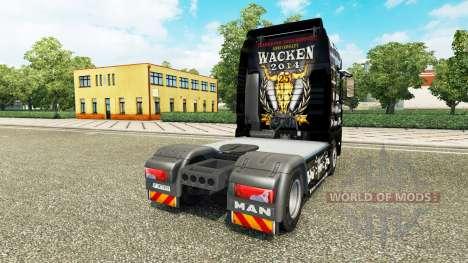Haut-25 Jahre Wacken für den Traktor MAN für Euro Truck Simulator 2