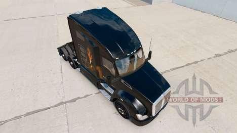 La peau Light my Fire sur un tracteur Kenworth pour American Truck Simulator