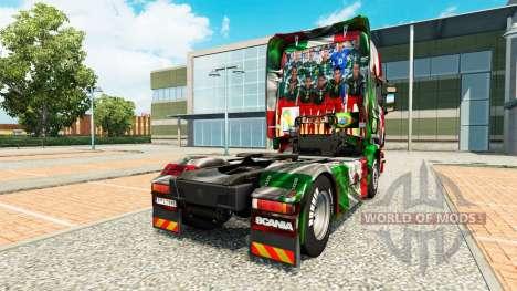 Le Mexique Copa 2014 de la peau pour Scania cami pour Euro Truck Simulator 2