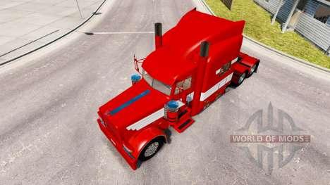 Скин Blanc Rayures sur Peinture Rouge на Peterbi pour American Truck Simulator
