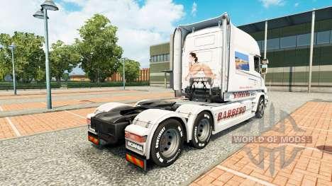 BARBERO de la peau pour Scania T camion pour Euro Truck Simulator 2