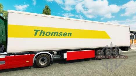 Thomsen skin für den Anhänger für Euro Truck Simulator 2