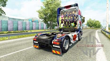 La peau Japao Copa 2014 pour Scania camion pour Euro Truck Simulator 2